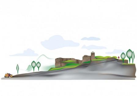 Med StyroRock under fästningen